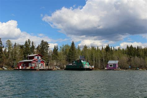 houseboat yellowknife birch syrup pecan squares dinner with julie
