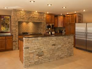 Fasade Kitchen Backsplash peerless stone faced kitchen island with natural stone
