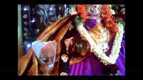 Maxy Dewi Purple varalakshmi pooja decoration 2012