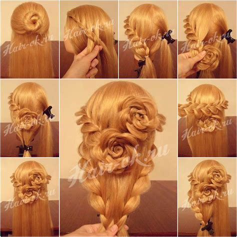 diy hairstyles with pictures wonderful diy lace braid rose hairstyle