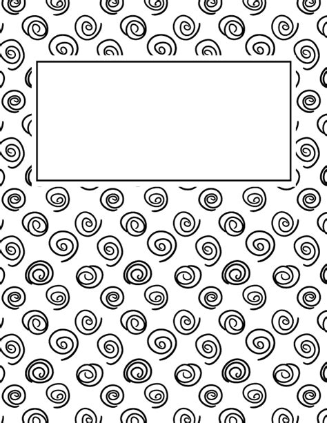 Black And White Binder Cover Templates by Free Printable Black And White Spiral Binder Cover