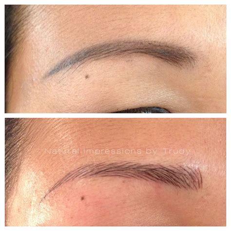 tattoo eyebrows toronto 21 best semi permanent eyebrow hairstroke tattoo images on