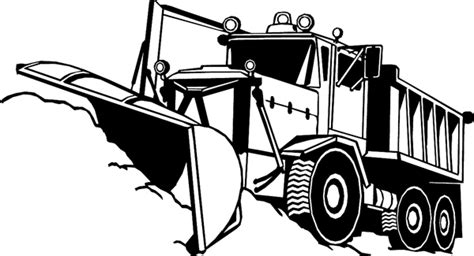 free snow plow truck coloring pages