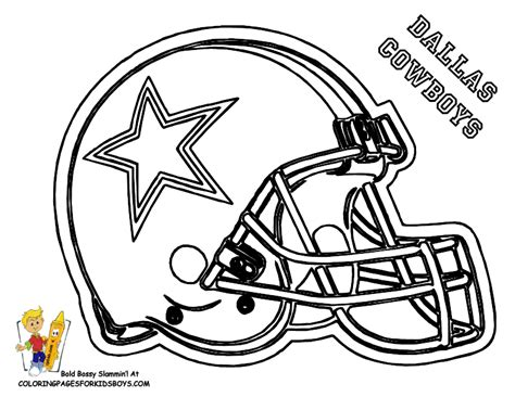 dallas cowboys football coloring at pages book for kids