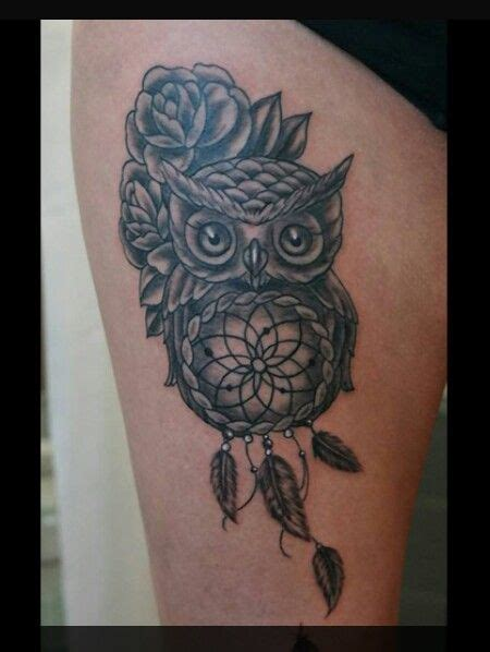 owl with roses tattoo owl tattoos and designs that are actually amazing