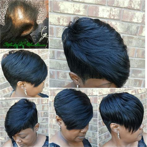 short hair styles for women with alopecia 40 best images about quickweave styles on pinterest bobs