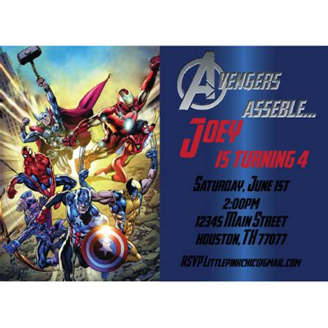 4 best images of avengers party invitations free printable