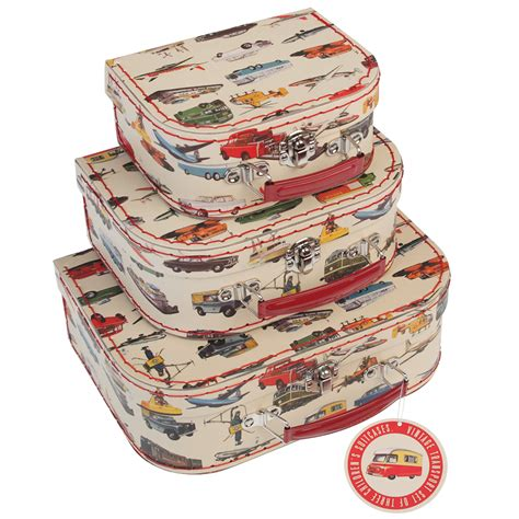 Finite Stationery Set In Tin Pencil Fancy Stationery Set set of 3 vintage transport cases rex dotcomgiftshop