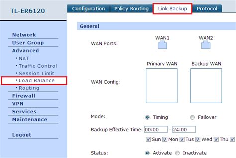 Saklar On Dua Mode Switch On Lu Dua Mode how to configure link backup on dual wan router tp link