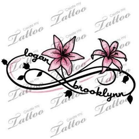 flower tattoo with child s name children s names tattoos for women google search