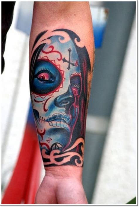 santa muerte tattoo images santa muerte with tattooimages biz