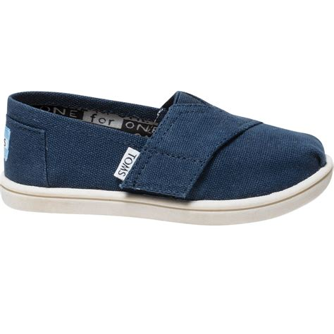 toms toddlers tiny classic slip on shoes casual shoes
