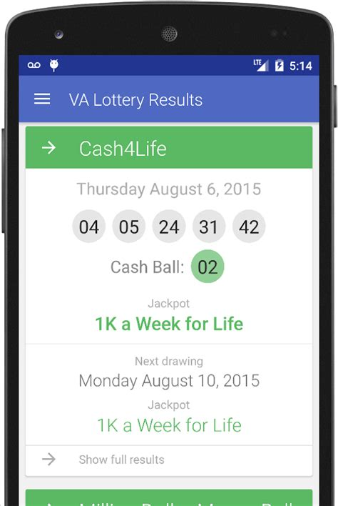 Money Ball Winning Numbers - va lottery results android apps on google play