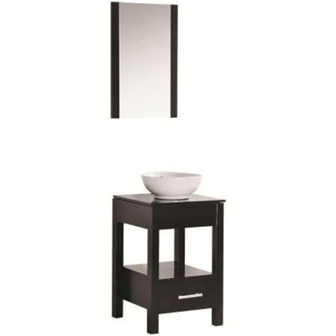 maranella atala espresso w tempered glass vanity top in