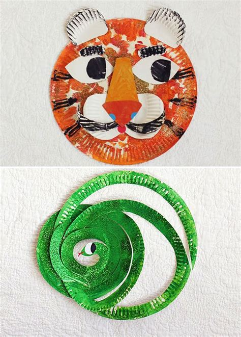 Tiger Paper Plate Craft - crafts for for and paper plate animals on
