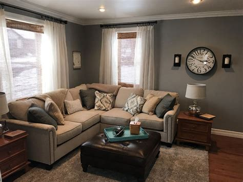 behr downtown gray cream couch   beige living