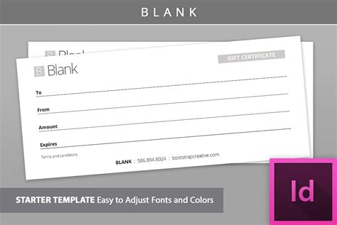 graphic design gift card template portfolio gift certificate template blank stationery templates