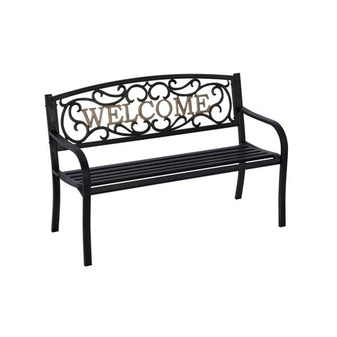 welcome bench creativeworks home decor garden benches