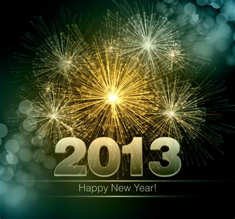 happy new year 2013 7 free vector graphic download
