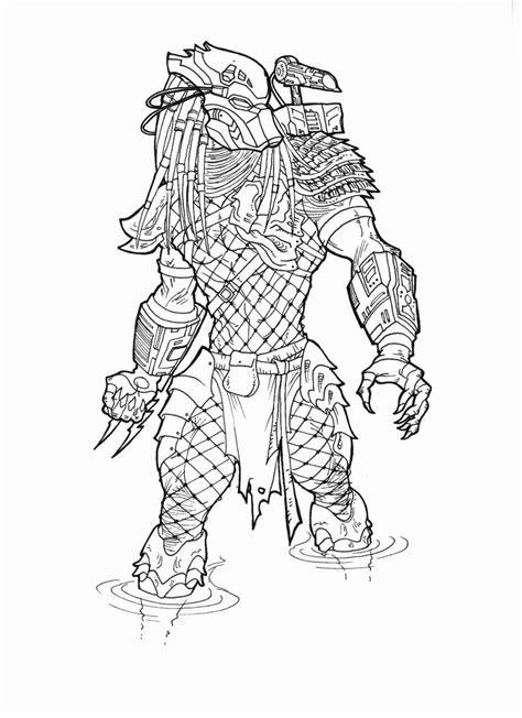 alien vs predator coloring pages sketch coloring page