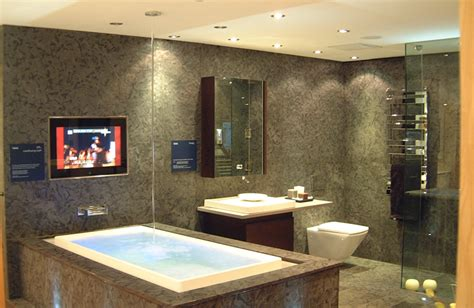 bathroom tv ideas custom bathroom audio visual av installations tea london