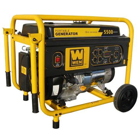 wen 5 500 watt gasoline powered portable generator with