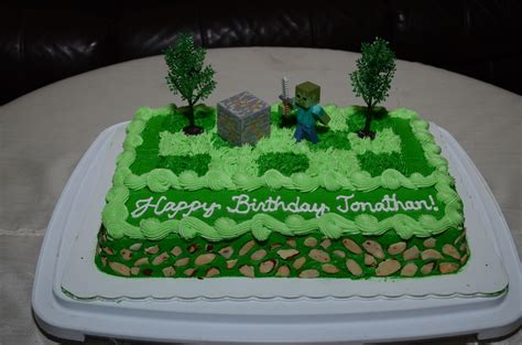 Minecraft Zombie  Ee  Birthday Ee   Cake For Jonathan Cakecentral M