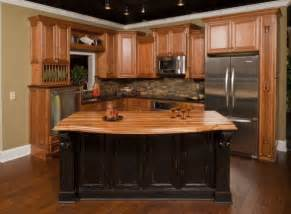 Pre Made Kitchen Islands With Seating Honey Oak Kitchen Cabinets With Black Countertops The Cook