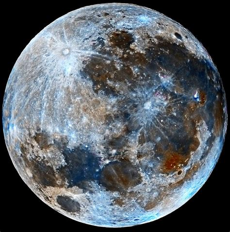 what is the color of the moon quot blue quot moon faux color of moon aug 2015