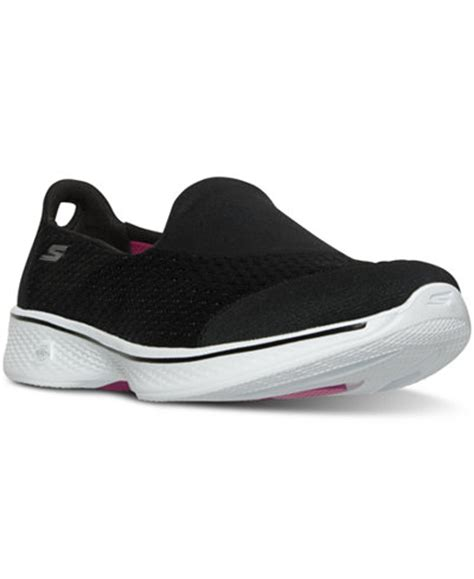 Skechers Gowalk 4 Pursuit S Lifestyle Shoes Black 1 skechers s gowalk 4 pursuit walking sneakers from