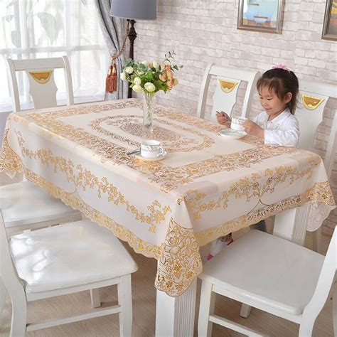 kitchen table protector waterproof pvc vinyl wipe clean tablecloth dining kitchen