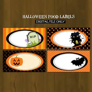 halloween printable food labels or place by