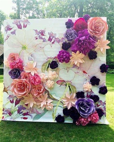 papel mural flores peque 241 as con fondo verde xv papel mural fondos verdes y murales decoraci 243 n boda con flores de papel fotos ideas foto ella hoy