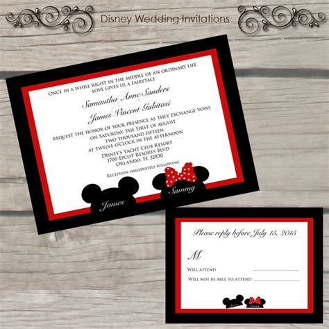 wedding invitation to mickey mouse mickey and minnie mouse wedding invitations