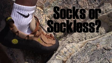 socks with rock climbing shoes socks or sockless intro to rock climbing shoes