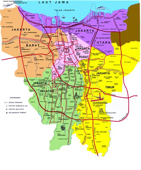 daftar kecamatan  kelurahan  daerah khusus ibukota jakarta