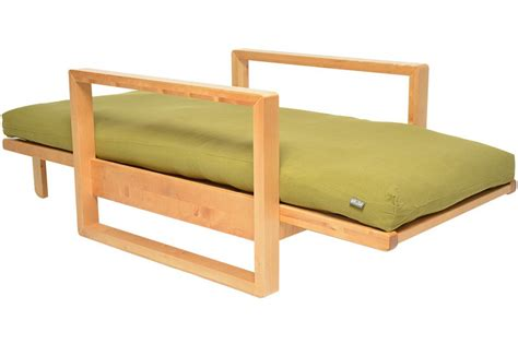 Oke Single Seater 3 Panel Solid Oak Sofa Bed Single Seater Sofa Bed