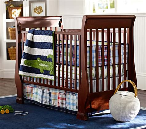alligator madras baby bedding set pottery barn