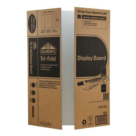 tri fold amazon com elmer s tri fold display board white 28x40