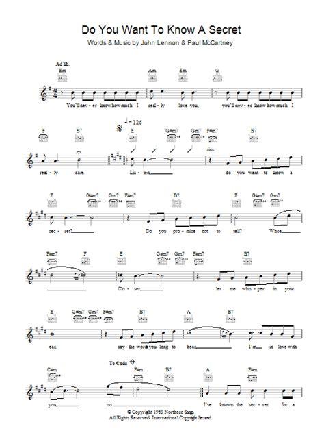 secret chords piano do you want to a secret sheet direct