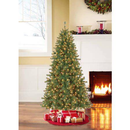 duncan fir tree time pre lit 7 duncan fir artificial tree clear lights walmart