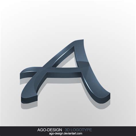a design letter a 3d logotype by ago design on deviantart