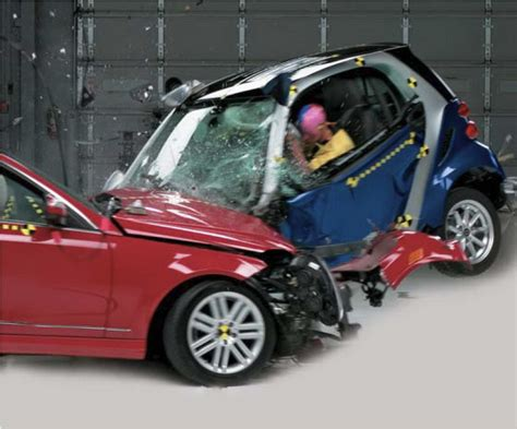 car crash smart car crash test