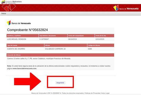 comprobante de la solicitud preapertura cuenta banco apexwallpapers imprimir comprobante de cita banco de venezuela