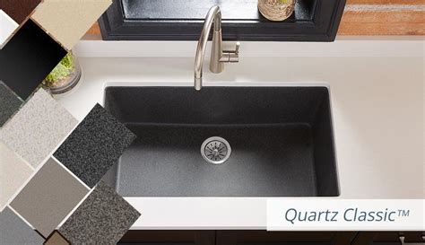 Which Elkay Granite Sink Has Sparkle In The Finish - elkay quartz kitchen sinks bold granite colors sleek