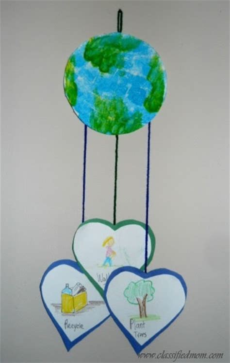 mobile day preschool crafts for earth day mobile craft