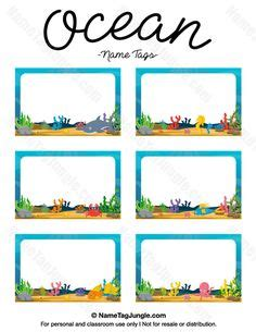 ocean themed desk name tags set of cubbies and work 1000 images about name tags at nametagjungle com on
