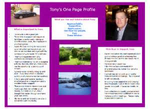 person centred one page profiles
