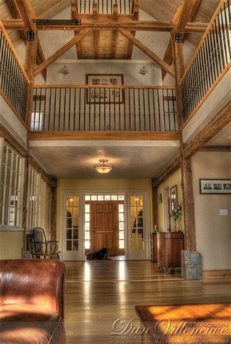 main entrance   floor balcony red barn house