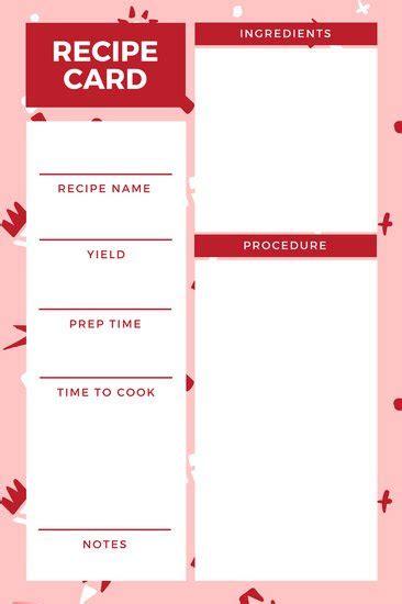 free printable recipe card template for mac christmas recipe card template for mac infocard co